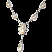 SALE 3pc.Biwa Pearl Necklace/Bracelet/Earring Set