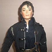 SOLD 22in.  Michael Jackson Bisque Doll by unknown Artist  Fabulous Likeness
