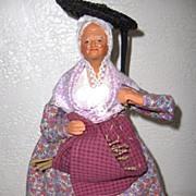 SALE French Santon Woman All Original Ex. Condition