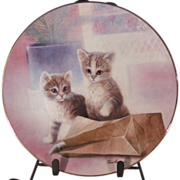 SALE A Bag of Fun Cat Collector Plate by Ruane Manning