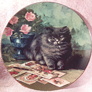 The Purr-fect Pen Pal Cat Collector Plate from the Victorian Cat Capers Collection by Ada Tuck