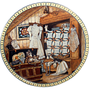 Attic Afternoon Cat Collector Plate from the Cozy Country Corners Collection by Hannah Hollist