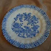 Set of Three Blue & White Plates - R S Tillowitz