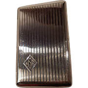 Sterling NIVOIS Cigarette Case patented by the P. Lorillard Company