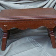 Early Brown Painted Wood Foot Stool