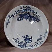 Early Scottish Flow Blue Bowl by R. Cochran & Co.