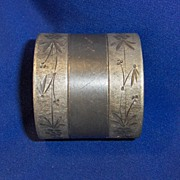 SALE Engraved Silver Plated Victorian Napkin Ring