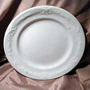"19th Century J. Wedgwood White Ironstone 7 ½"" Plate"