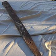 SALE Old 37 Inch Metal Barn Strap