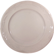 """Antique White Ironstone Plate 8 ¾"""" Plate by Davenport Corn and Oat Pattern"""