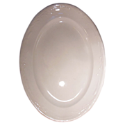 Large Antique English White Ironstone Oval Platter Corn and Oat Pattern