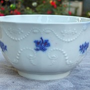 19th Century Grandmother's China or Chelsea Porcelain Sprig Bowl