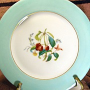 Haviland & Co. Limoges Green, Gold and White Fruit Motif Plate