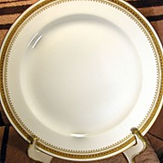 SALE Theodore Haviland Limoges Gold and White Plate Circa 1903