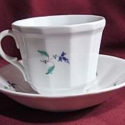 19th Century Early English Sprig Cup and Saucer
