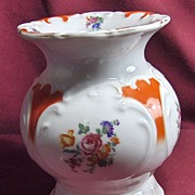 19th Century Floral and Embossed Footed Brush Holder