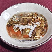 Sandland Ware Butter Pat with Dickens' Character Sairy Gamp