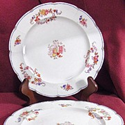 SALE Set of 3 Mintons Floral Embossed Plates