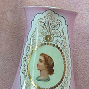 Pink Victorian Portrait Milk Pitcher