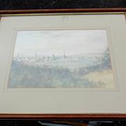 Framed Landscape Print by Noted English Artist K. J. Messor