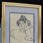 Gibson Girl Print Conspirators by Charles Dana Gibson 1902