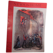 Magazine – News from Home March 1949 Cover Early Fire Fighters Rescuing Child from Burning B