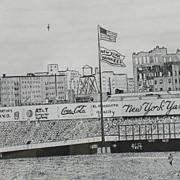 SALE Limited Edition Stella Roosevelt Black and White Print Old Yankee Stadium