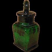 Early Small Dark Green Larkin Soap Company Bottle with Stopper