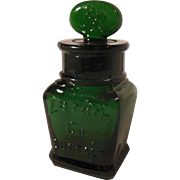 Early Small Dark Green Larkin Soap Company Bottle with Stopper