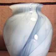 SALE Lovely Light and Dark Blue Case Glass Vase