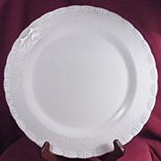 "SALE Beautiful 12"" Custard Glass Round Platter or Chop Plate"