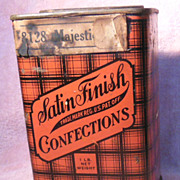 SALE Old Advertising Brandle & Smith Candy Tin or Can Satin Finish Confections