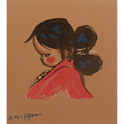 Pair of Numbered Native Indian Girl Prints by Artist Gerda Christofferson
