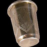 Antique Russian 84 Silver Kiddush Cup 1899 Kiev - Eseevich Zakhoder