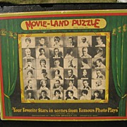 "SALE ""Movie-Land Puzzle"" Milton Bradley Co. 1926 - Jig Saw Puzzle with Our Gang Come"