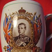 SOLD Edward Vlll Royal Commemorative Coronation Mug, 1937