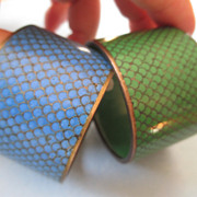 Pair of Cloisonne Napkin Rings - Vintage Chinese