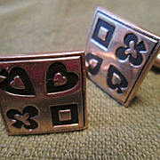 Swank Cufflinks with Card Suits - 1950's