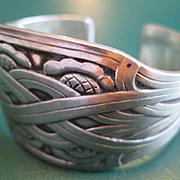 Georg Jensen, Harald Nielsen Design Sterling Bangle / Cuff / Bracelet no.55