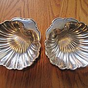Pair of Gorham Sterling Silver Shell Shaped Bon Bon Bowls