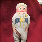 Palmer Cox Brownie - Policeman - Hand Made Cloth Doll / Ornament