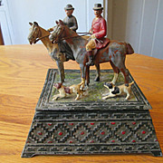 SOLD Fox Hunting Scene Box - Austrian / Vienna  Cold Painted Figures