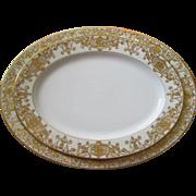 """Two Large Noritake China Christmas Ball Pattern Platters - 16 3/4"""" and 13 3/4 ..."""