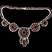 REDUCED Wonderful Bergere Necklace and Bracelet Faux Garnets