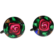 REDUCED Rare Charles Kaziun Paperweight Earrings
