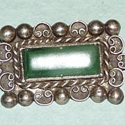 REDUCED Vintage Sterling Mexican Brooch