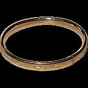 Vintage Baby Bracelet Gold Filled