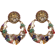 REDUCED Large Vintage M. Baer Earrings Clips Book