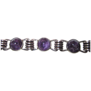 REDUCED Early Carmen Beckmann Amethyst Sterling Bracelet