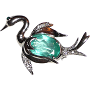 SALE Sweet Sterling Bird Swan Pin
